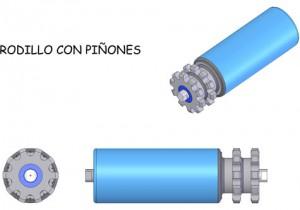 Rodillo con Piñones